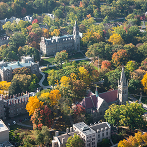 Aerial view of Lehigh's campus