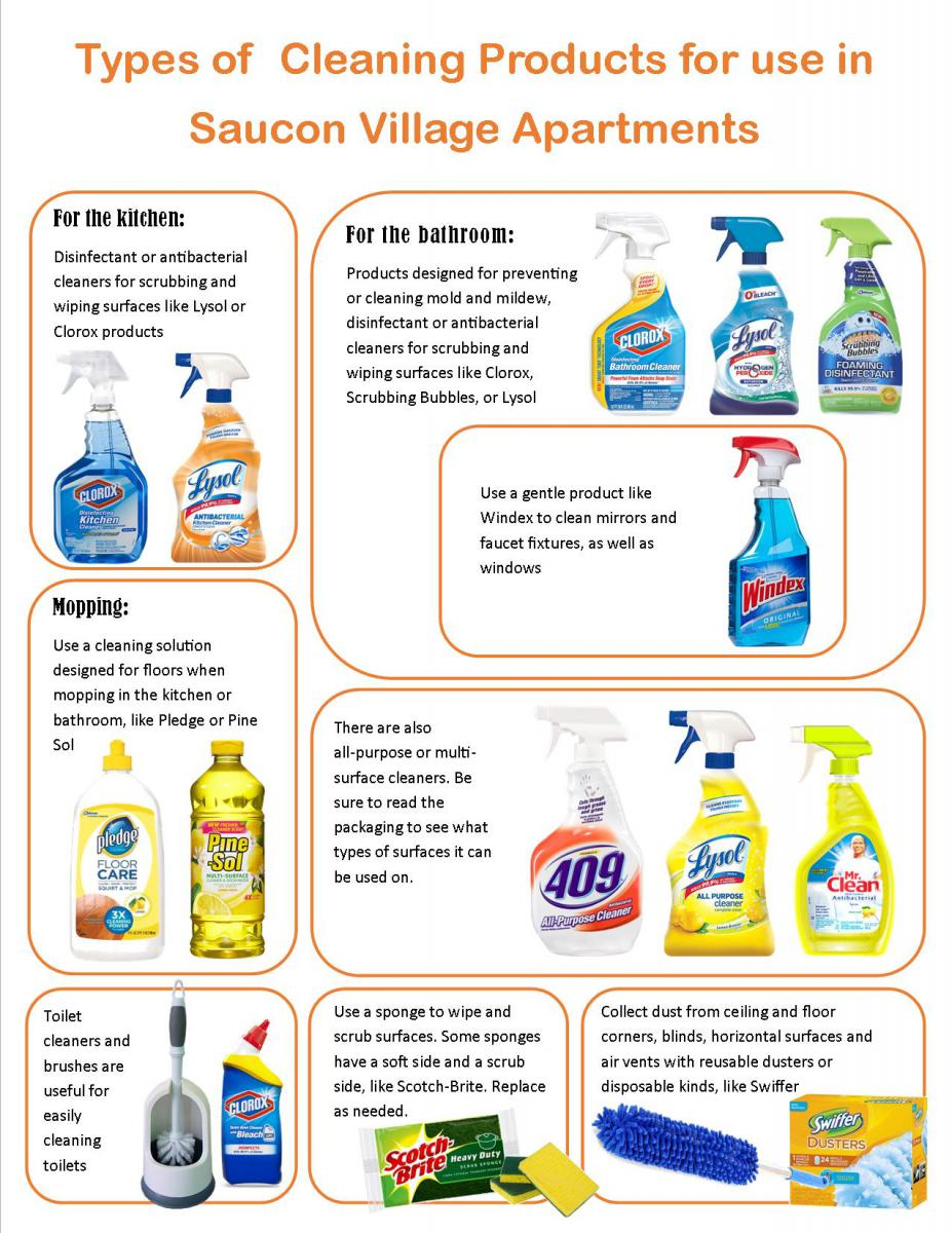 list of appropriate cleaning products to use in your apartment to avoid  any lease violations During inspections  any student who falls below a. Cleaning in Graduate Housing   Finance   Administration