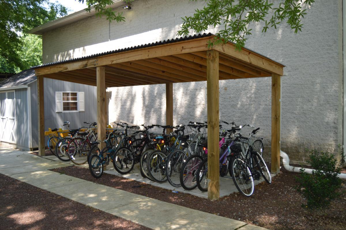 Covered Bike Storage : Bike racks in saucon village finance administration